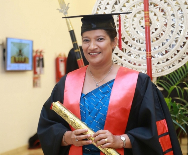 Thushari Koralage awarded an Honorary Doctorate for her entrepreneurship skills and her contribution to the field of education